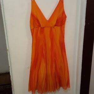 Groovy orange halter dress